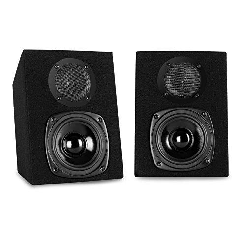 auna - ST-2000, Regallautsprecher, Lautsprecher-Boxen, HiFi-Boxen, Lautsprecher-Paar, 2-Wege-System, 13cm (5