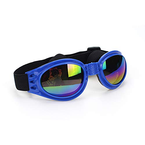 N-K PULABO Gafas plegables para mascotas con correa ajustable para perros UV a prueba de viento gafas de sol protección para mascotas gafas azul calidad superior y delicado creativo
