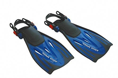 Aqua Speed Schnorchelflossen | Flossen Schnorcheln | Taucherflossen verstellbar | Schwimmflossen Pool | Snorkeling Fins | Gr. 38-41, blau | Wombat