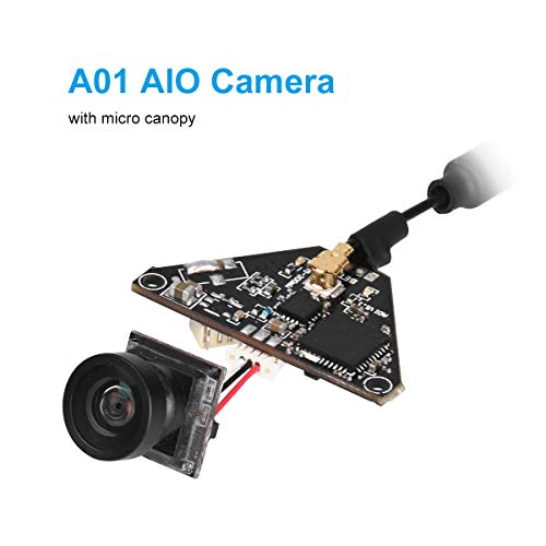BETAFPV A01 AIO Camera 5.8GHz VTX Transmitter 800TVL NTSC/PAL OSD SmartAudio for 2-4S Tiny Whoop Drone(Pin-Connected Version)