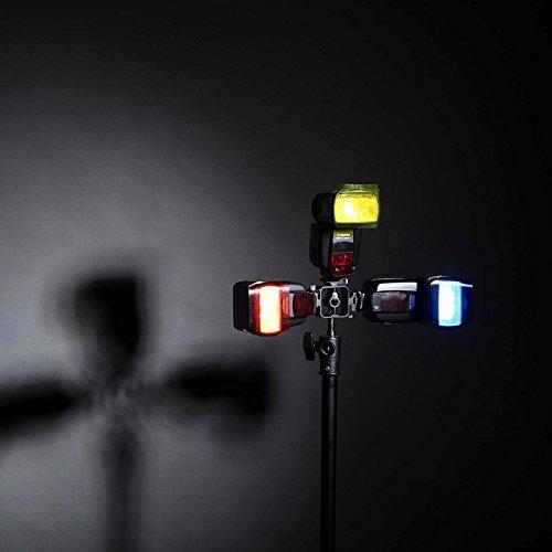 Selens Universal Flash Gels Lighting Filter 20 pcs Combination Kits for Camera Flashlight with 3 Gel-Bands