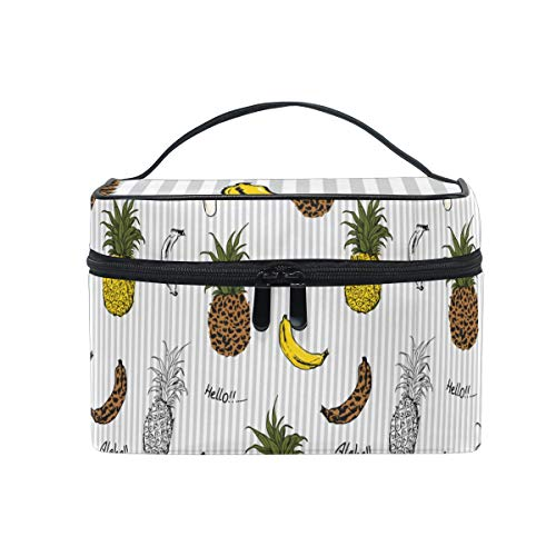 Sommerfrüchte Ananas Banane Kosmetiktasche für Frauen Schminktasche Große Mädchen Damen Make Up...