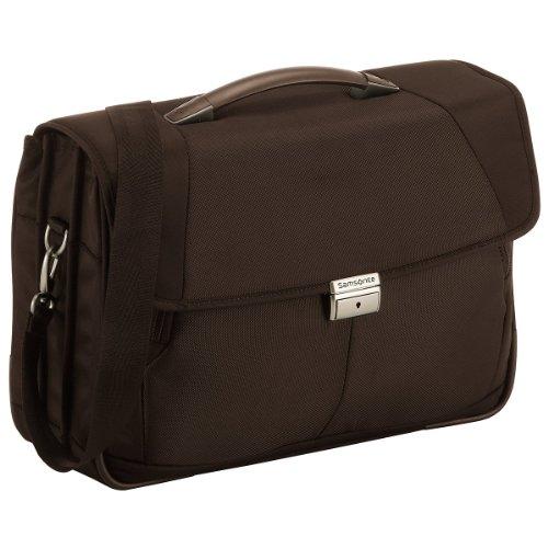 Samsonite Cartella Intellio Briefcases Briefcase 3 Gussets 16' 16 liters Marrone (Dark Brown) 56333-1251