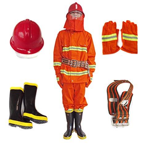 lqgpsx Brandschutz Wächter Brandschutz Brandschutz Feuerwehranzug Orange