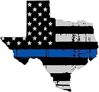 Vinyl Aufkleber, Motiv Nationalflagge Texas, dünn, blau, 15,2 cm