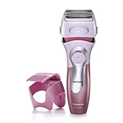 Sharp shaving blades: Panasonic close curves women's electric shaver with four ultra-sharp blades and ultra-thin foil follows body contours for a quick, close and comfortable shave. The power source is AC 120 volts Wet/Dry electric shaver and trimmer...