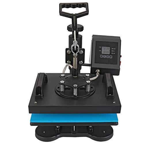 Aonesy Máquina de prensado en caliente de 30x25 cm para camisetas, máquina multifuncional de sublimación de transferencia de calor digital con rotación de 360 grados