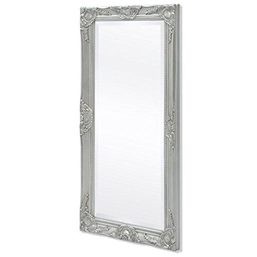 Festnight Specchio da Parete Cornice Rettangolare Stile Antico Barocco 120x60cm/140x50cm Bianco/Dorato/Argentato/Nero per Bagno/Salotto/Camera