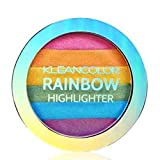 Kleancolor 6 Color Contour Shading Powder Face Highlighter Rainbow Highlighter