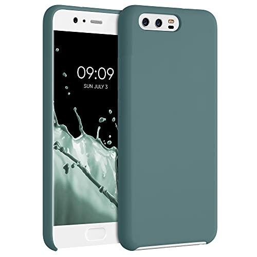 kwmobile Custodia Compatibile con Huawei P10 - Cover in Silicone TPU - Back Case per Smartphone - Protezione Gommata Blu...