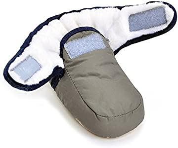 Bebé Niños Niñas Invierno Cálido Botas Zapatos de Cuna gris gris Talla:3-6 meses