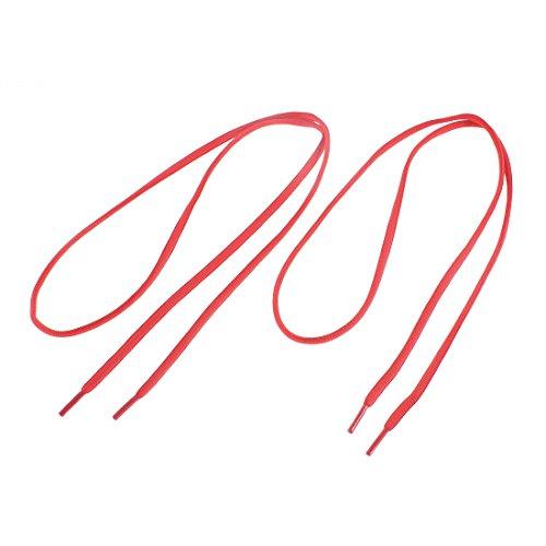 Sourcingmap Mélange coton Baskets lacets ronds longueur 112cm chaîne paire rouge
