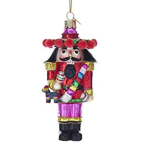 Kurt Adler 5' NOBLE GEMS MEXICAN NUTCRACKER ORNAMENT