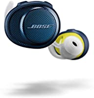 Bose SoundSport Free, True Wireless Earbuds, (Sweatproof Bluetooth Headphones for Workouts and Sports), Midnight Blue/Citron