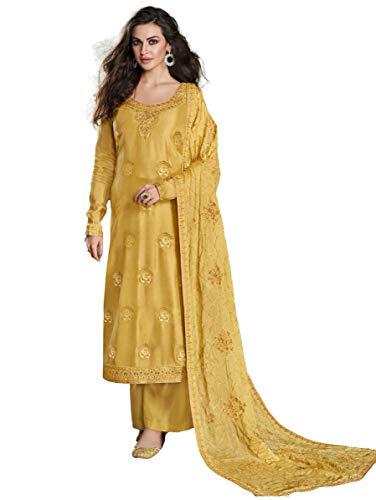 San Valentín especial exclusivo indio mujeres tradicional semi cosido traje Salwar s07