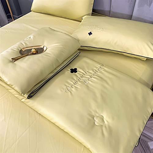 HOUMEL El Verano se refresca edredón Simple/Doble/Rey Duvet 1.5 TOG - Lavable a máquina - 100% algodón Lanza for el sofá Tiro de la Cama Manta 014 (Color : B, Size : Double)