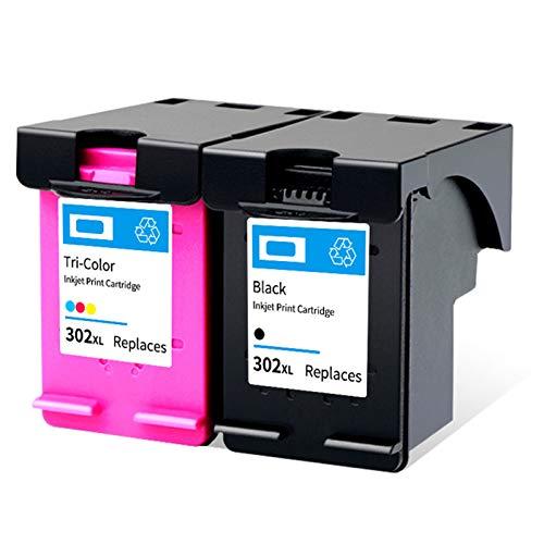 Adecuado para HP302XL Cartucho de tinta de color negro Deskjet 3636 3830 2130 3630 Envy 4510 4520 Officejet 3830 Juego de cartuchos de tinta para impresora de inyección de tinta