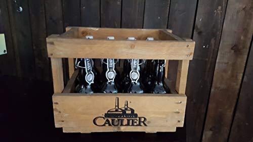 Caisse bois originale avec 12 bières Paix-Dieu 33cl 10°