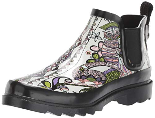 The Sak Women's Sakroots Rhyme Ankle Rainboot Rain Boot, Pastel Spirit Desert, 8 Medium US