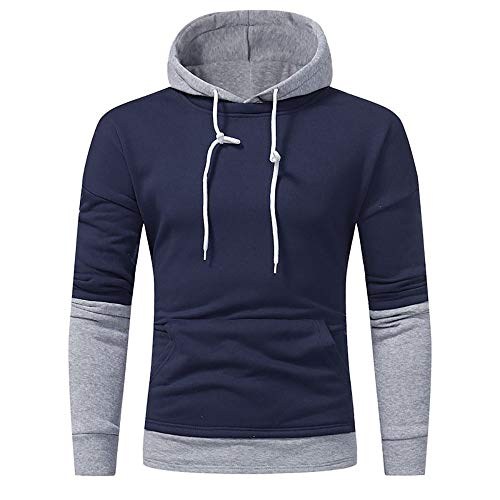 Heligen Herren Winter Herren Pullover Teen Casual Cardigan Kapuzenjacke Herbst Mantel Fine Color Patchwork