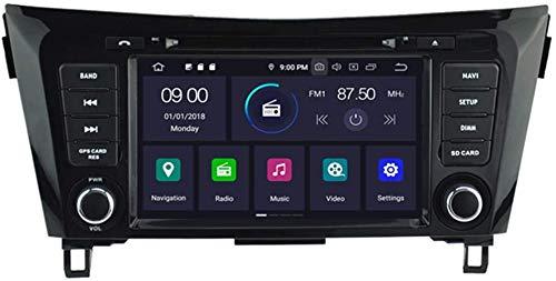 GPS-navigatie voor NISSAN X-TRAIL Rogue Qashqai 2014 2015 2016 2017 2018 Auto DVD-speler SAT NAV-radio Hoofdeenheid Stereo Bluetooth SD USB Radio WIFI DVR 1080P