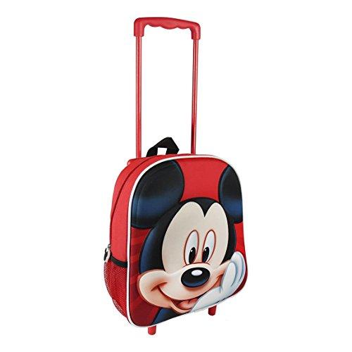 Artesania Cerdá Disney Mickey Mouse Mochila con Ruedas para Niños, Bolso Escolar, Mochila Guarderia, Equipaje Bolsa de Viaje Infantil, Diseño 3D, Regalo para Niños!