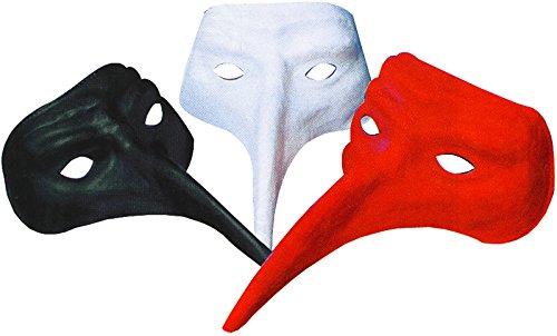 Masque Venitien Colori Assorti Noir Rouge Blanc