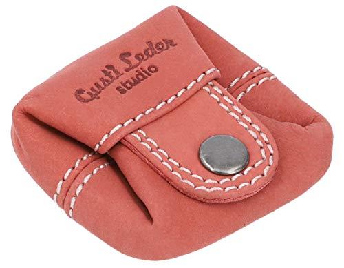 Gusti Monedero Cuero Linus Monedero portamonedas pequeño Rojo