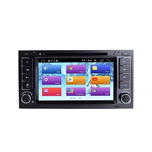 ZLTOOPAI Android 10 Autoradio für vw Volkswagen Touareg t5 Transporter doppel din Auto Stereo DVD Player GPS mit voller RCA Ausgang WiFi OBD SWC