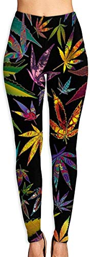 Monicago Women's Trippy Multi Pot Leaves Leggings Yoga Long Casual Sweatpants Athletic Gym Pants