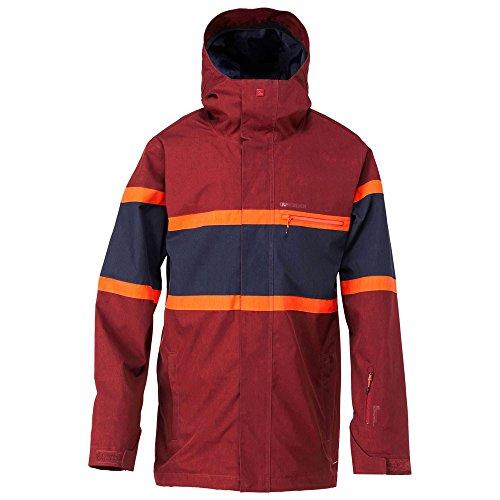 Quiksilver Herren Snowboard Jacke Fraction Jacket, Syrah, XL