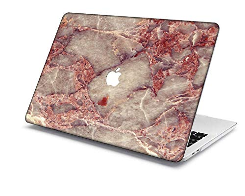 MacBook Pro 15 Case Model:A1707/A1990,QiuHuiCase Plastic Shell Cover Only Compatible 2018-2016 Release MacBook Pro 15' with Touch Bar Touch ID (Marble 249)
