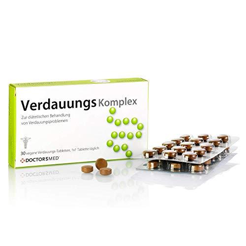 Verdauungs Komplex | Píldoras Digestivas para la Hinchazón, la Indigestión, Los Calambres y el Estreñimiento| Veganas, Sin Gluten y sin Lactosa