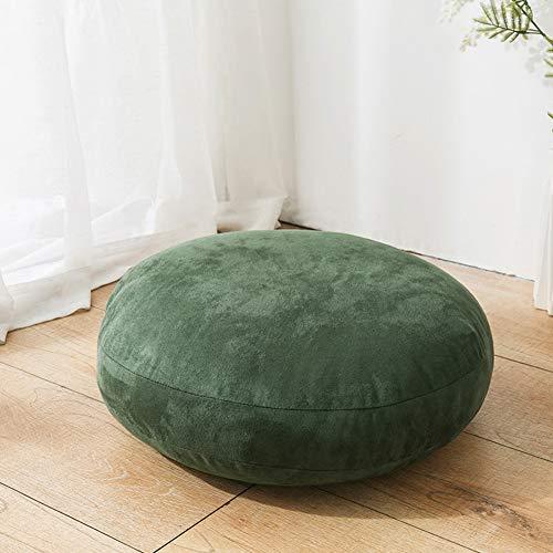 HAOCHI Floor Cushion For Meditation Yoga Cushion Meditation Pillow Yoga Pillow Round Chair Cushions,Meditation Cushion,Dining Office,Seat Cushion,Height 18 20 Cm-Green 60 * 60cm*20cm