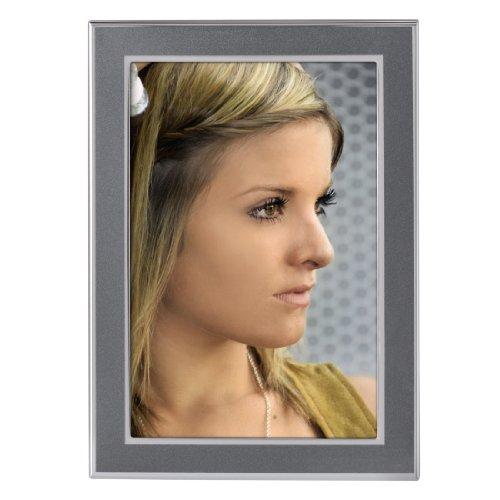 Hama Portrait Bilderrahmen Philadelphia (Fotogröße 13 x 18 cm) anthrazit / silber