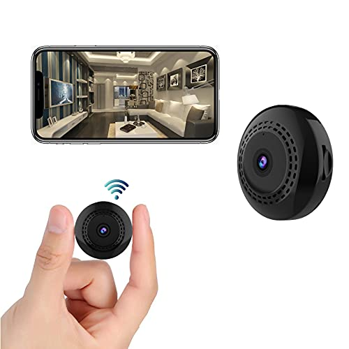 Mini Spy Camera WiFi Wireless Hidden Camera with Audio and Video 1080P Small Portable Nanny Cam with Phone App, Motion Detection, Night Vision for Indoor Outdoor Small Camera