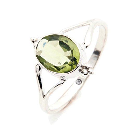 Ring Silber 925 Sterlingsilber Peridot grün Stein (Nr: MRI 111), Ringgröße:58