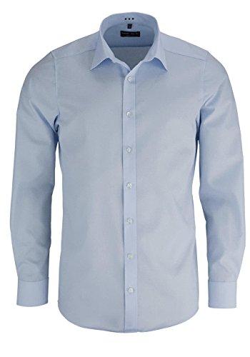 MARVELIS Body Fit Hemd extra langer Arm hellblau AL 69, Gr. 42, Blau