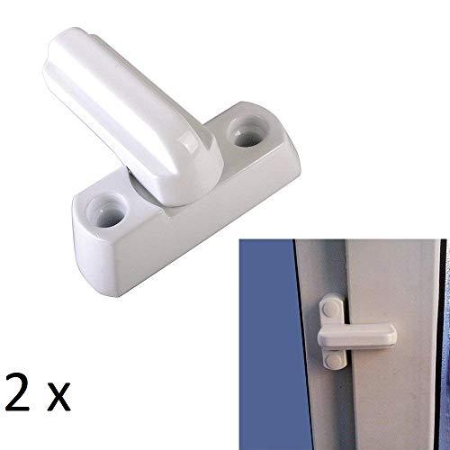 Miya 2 x Fensterschloss Tuerschloss Fenstersicherung PVC Extra Sicherheit