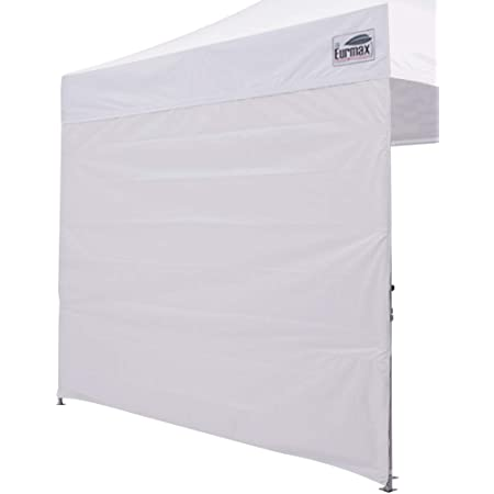 Eurmax Instant SunWall for 10x10 Pop up Canopy, Canopy Walls 10x10,Outdoor Instant Canopies, Removable Zipper End, 1 Pack Sidewall Only (White)