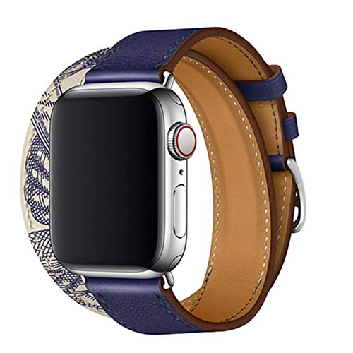 MS.CJ Correa de Cuero para Apple Watch 4 Bandas 40 mm 44 mm Correa Iwatch Serie 3 2 1 42 mm 45 mm Correa de Reloj de Pulsera