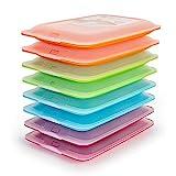 Tatay Lote 8 Porta Embutidos y Alimentos Fresh en Colores Surtidos Azul, Naranja, Verde y Rosa, Medidas 17 x 3.2 x 25.2 cm