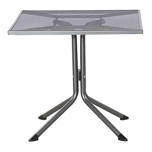Siena Garden Dining Tisch Elda Plus, 80x80x71cm, Gestell: Stahl, pulverbeschichtet in eisengrau, Tischplatte: Streckmetall