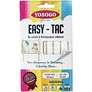 粘着ラバー イージー・タック はってはがせる ソフト粘着剤 容量250g 【50g(90山入り)・5個パック】