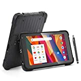 Rugged Android Tablet Barcode Scanner, Upgraded Android 9.0, Integrated Zebra 2D Scanner, 8 Inch Rugged IP67 Tablet, with GPS, WiFi, 4G, NFC for Warehouse Industrial Management, MUNBYN Scanner