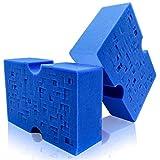 Sudz Budz Premium Jumbo Foam Grid Sponges 2pcs | Cross-Cut Car Wash Sponge | Multi-Use, Easy Grip, Large Sponge | Durable, Soft, Scratch-Free, Car Cleaning Sponge | Super Absorbent for All Surfaces