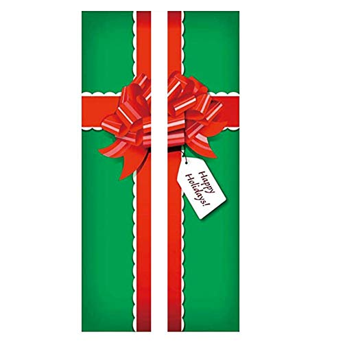 Liineparalle 2 stuks Kerstmis Windows stickers moderne kunst 3D deur sticker kerstgeschenkdoos sticker wooncultuur sticker peel stick afneembare PVC sticker garagedeur sticker