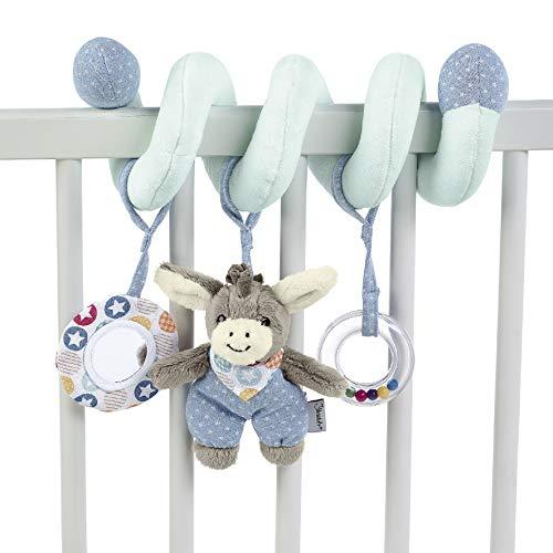 Sterntaler 6612000 Spielzeugspirale, Esel Emmi, Inklusive Rassel, Alter: Für Babys ab der Geburt, Mehrfarbig