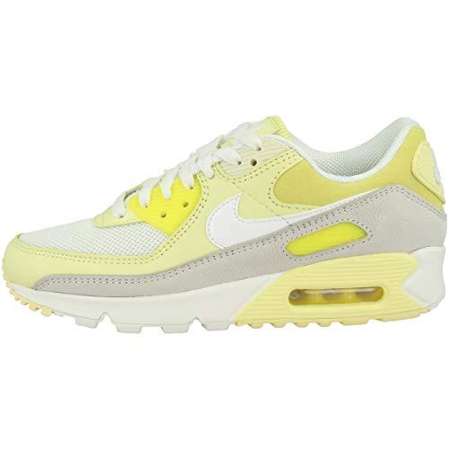Nike Wmns Air MAX 90, Zapatillas para Correr Mujer, OPTI Yellow White Fossil Bicycle Yellow, 44 EU