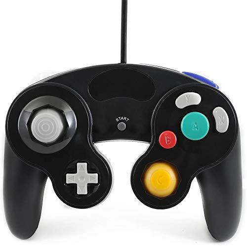 QUMOX nero classico controller joypad per joypad per nintendo gamecube gc e wii